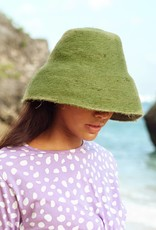 Brunna Co Naomi Jute Bucket Hat Matcha Green