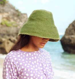 Brunna Co Naomi Jute Bucket Hat Matcha Green