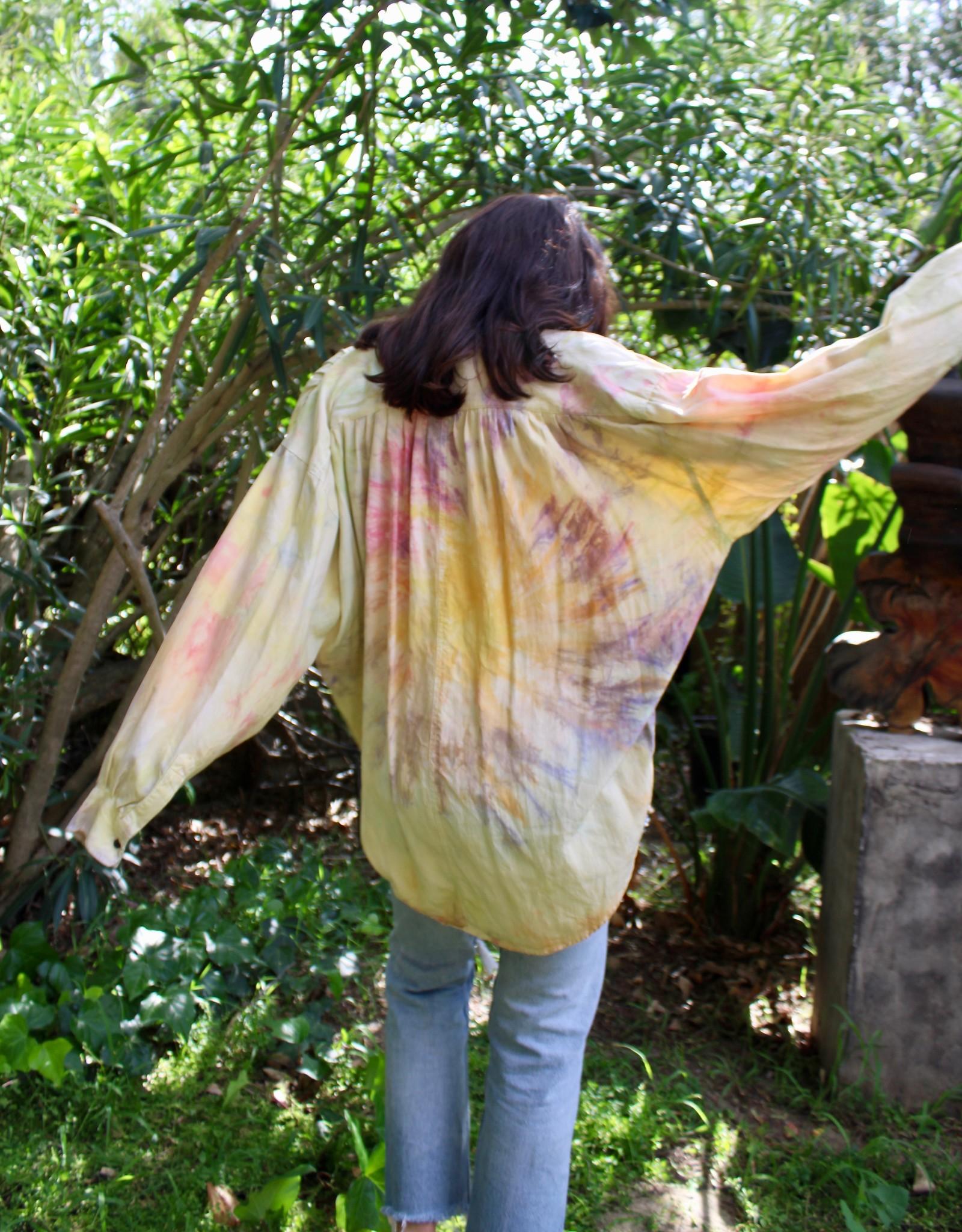 Kazmik Grace Tie Dye Goouch Silk Blouse