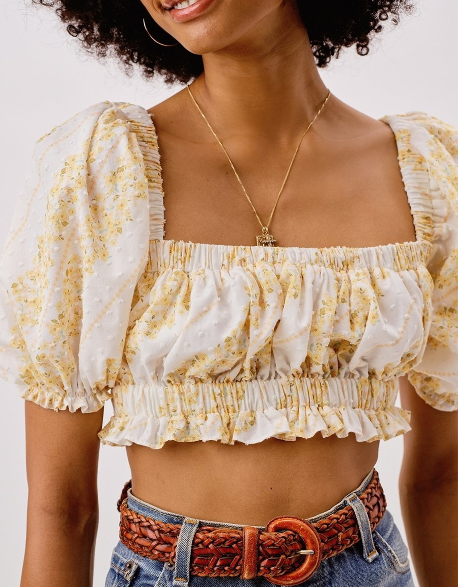 For Love and Lemon CT1734 Lucie Crop Top