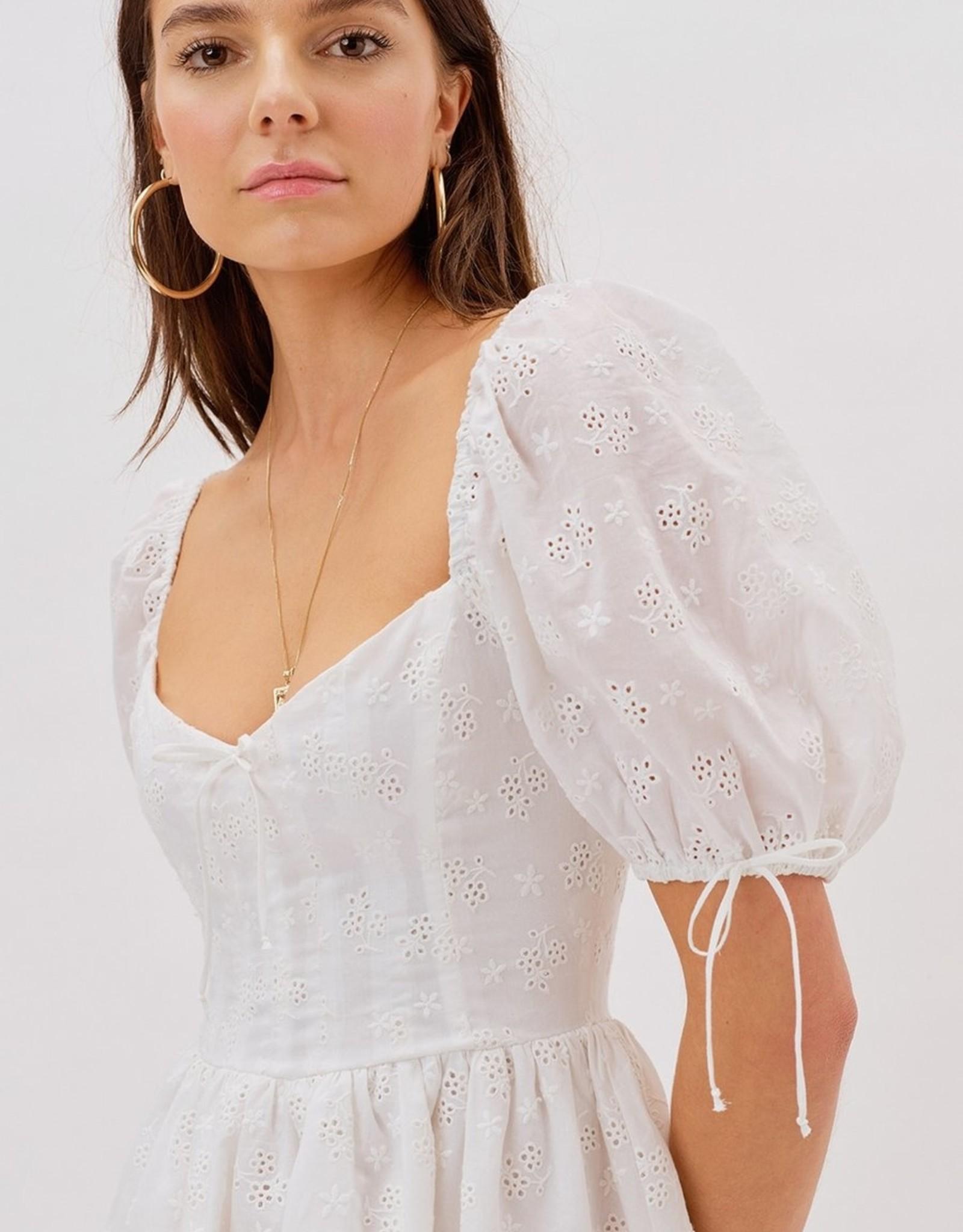 For Love and Lemon CD2391-SU21 Jean Mini Dress