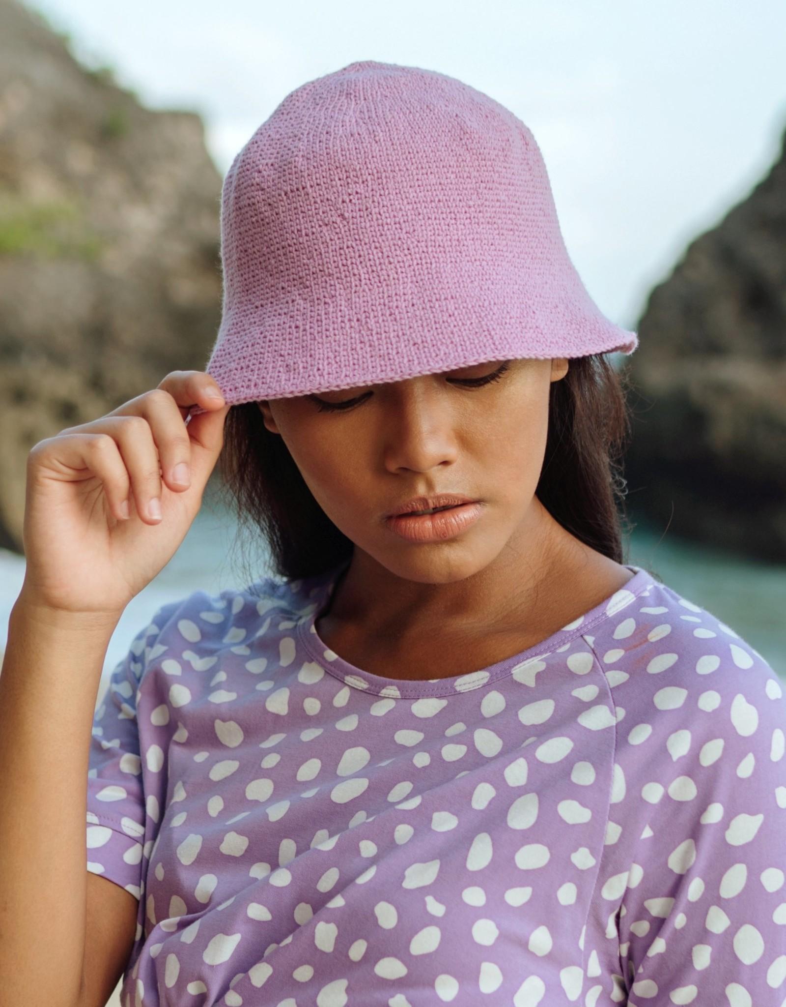 Brunna Co FLORETTE Crochet Bucket Hat Lilac Purple