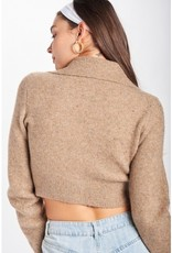 Emory Park IMC6221CA Cropped Cardigan w/ Wide Collar