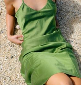 Ocean Pairie Silk Slip Dress