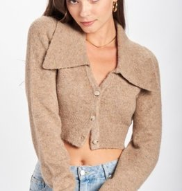 Emory Park Cropped Cardigan w/ Wide Collar