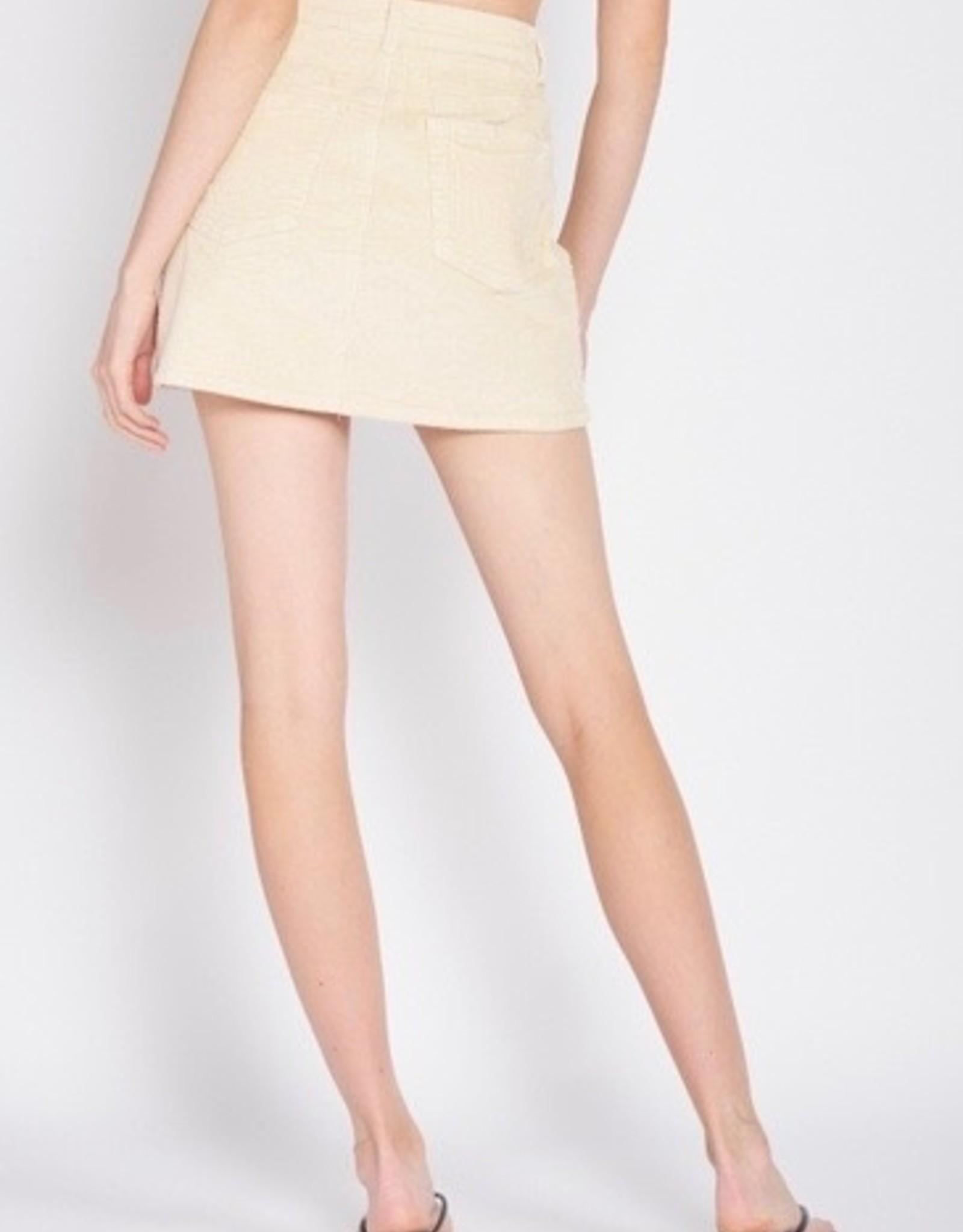 Emory Park IMA6176S Corduroy Mini Skirt
