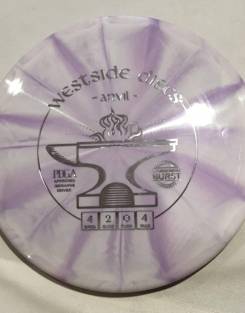 Westside Discs Westside Anvil Tournament Burst Light Purple 175g 4/2/0/4