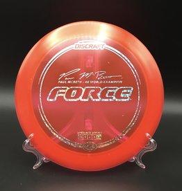 Discraft Force Z Red Paul McBeth 177g 12/5/0/3