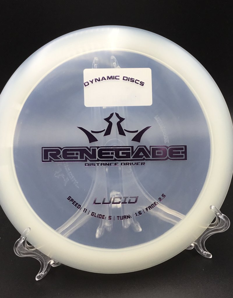 Dynamic Discs Dynamic Disc Renegade Lucid Clear 175g 11/5/-1.5/2.5