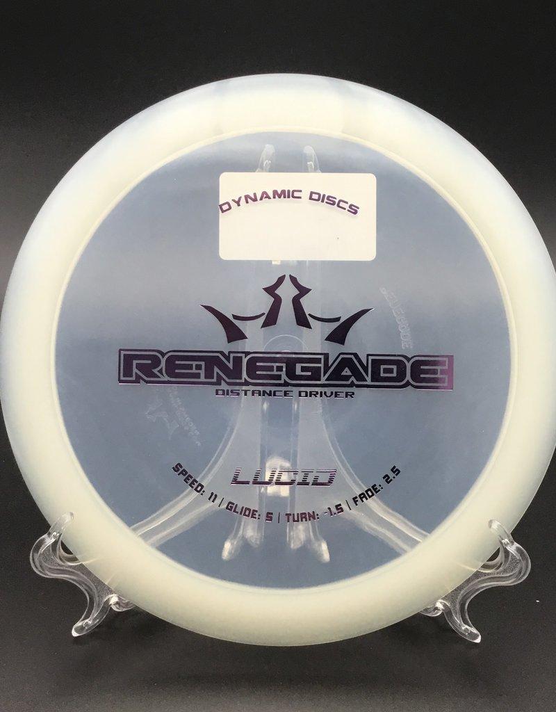 Dynamic Discs Dynamic Renegade Lucid Clear 174G 11/5/-1.5/2.5