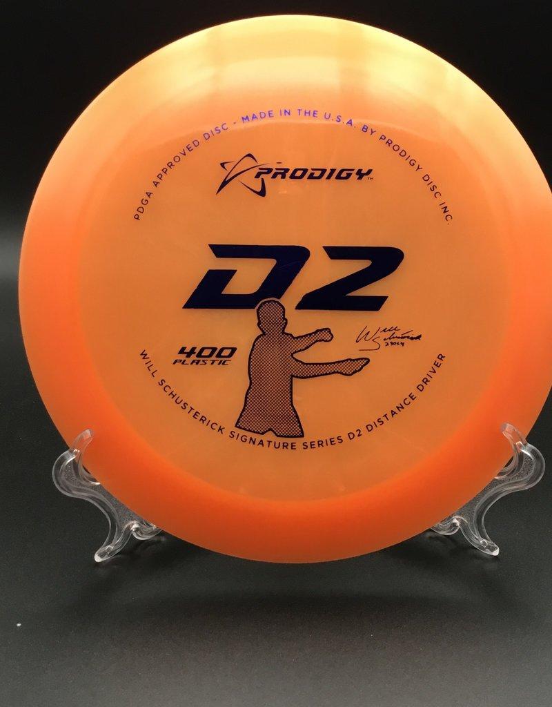 Prodigy Prodigy D2 Will Schusterick 400 Orange 174g 12/6/-1/3