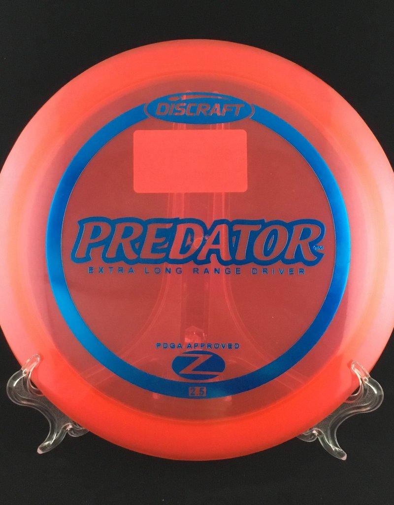 Discraft Predator Z Red 173g 9/4/0/4