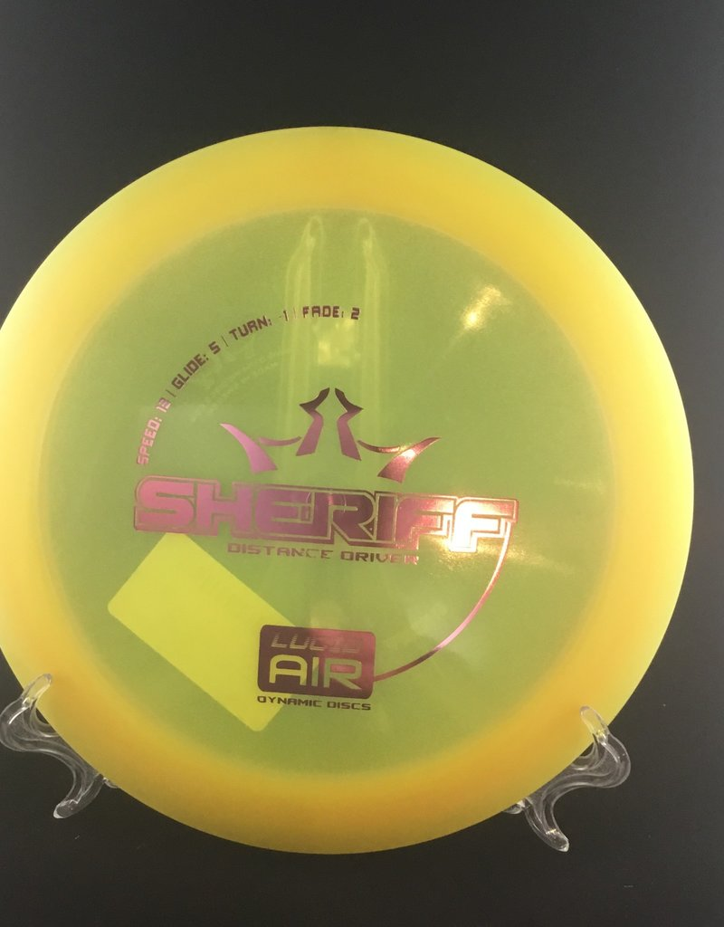 Dynamic Discs Dynamic Sheriff Lucid Air Yellow 159g 13/5/-1/2