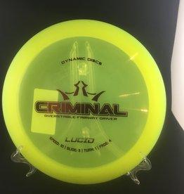 Dynamic Discs Dynamic Criminal Lucid Yellow 173g 10/3/1/4