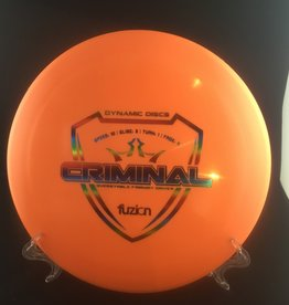 Dynamic Discs Dynamic Criminal Fuzion Orange 175g 10/3/1/4