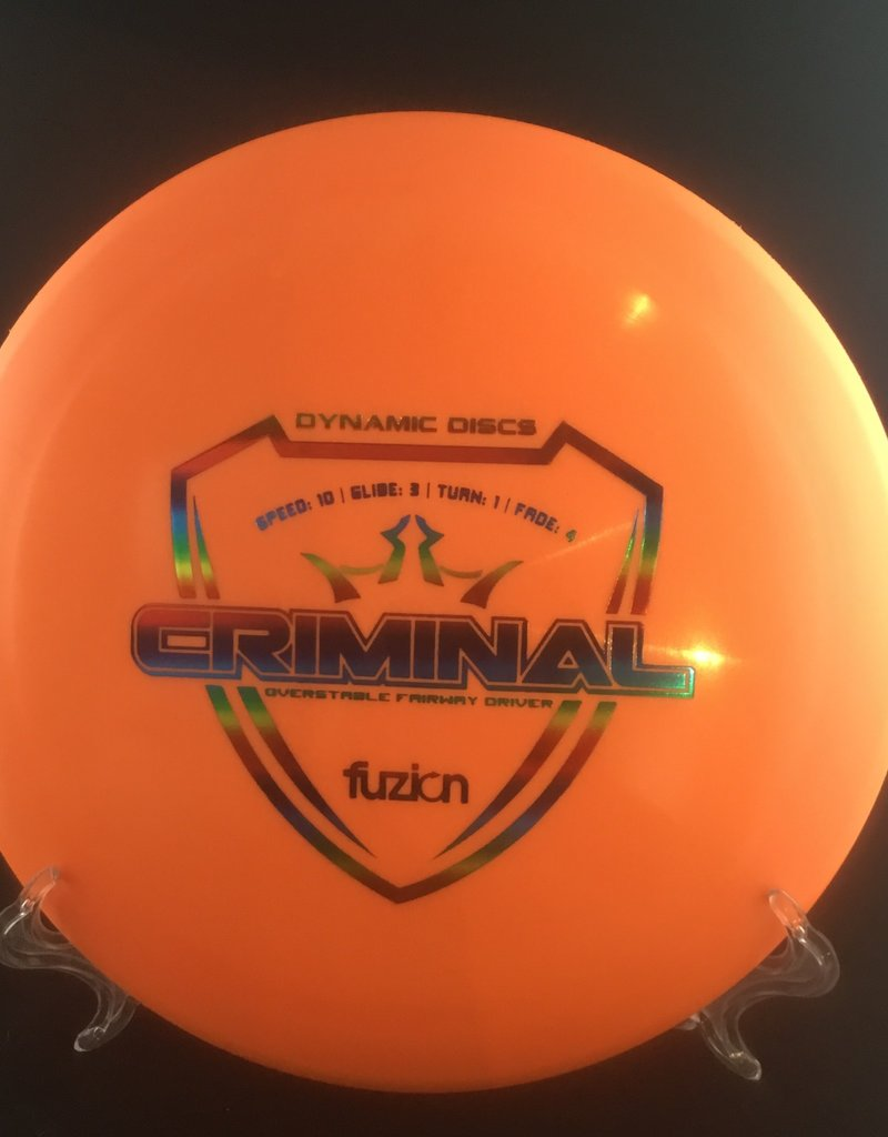 Dynamic Discs Dynamic Criminal Fuzion Orange 175g 10/3/1/4