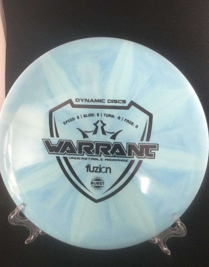 Dynamic Discs Dynamic Warrant Fuzion Burst Blue 175g 5/5/-2/0