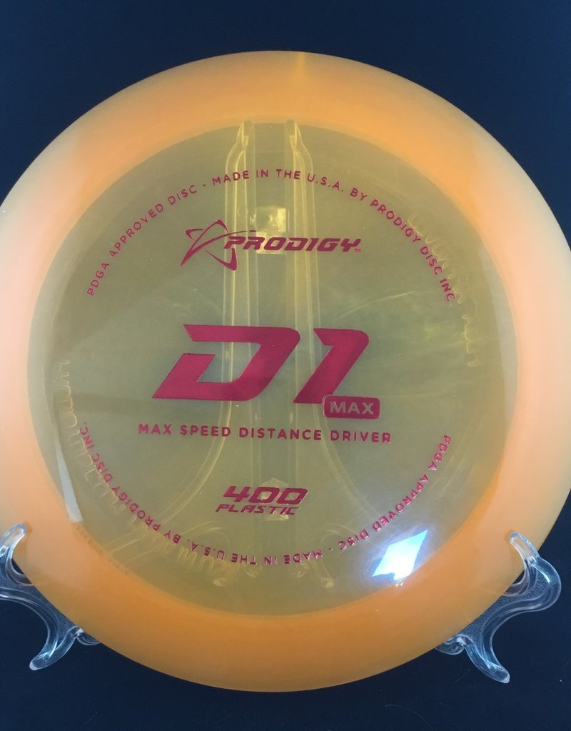 Prodigy Prodigy D1 Max 400 Plastic Translucent Orange 174
