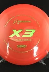 Prodigy Prodigy X3 400G Plastic Red 173