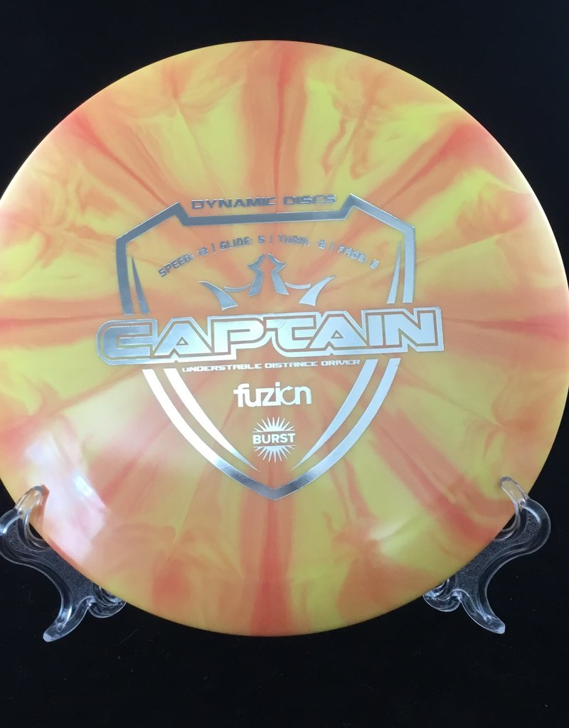 Dynamic Discs Dynamic Captain Fuzion Burst Orange 174g 13/5/-2/2