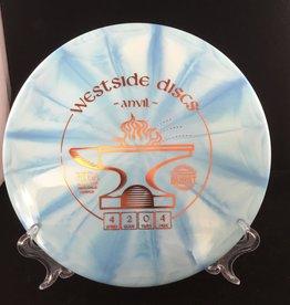 Westside Discs Westside Anvil Tournament Burst Light Blue 174g 4/2/0/4