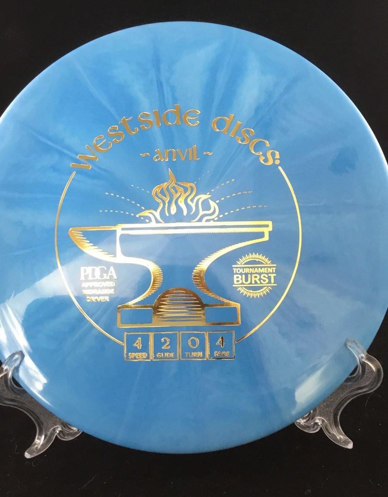 Westside Discs Westside Anvil Tournament Burst Blue 171g 4/2/0/4