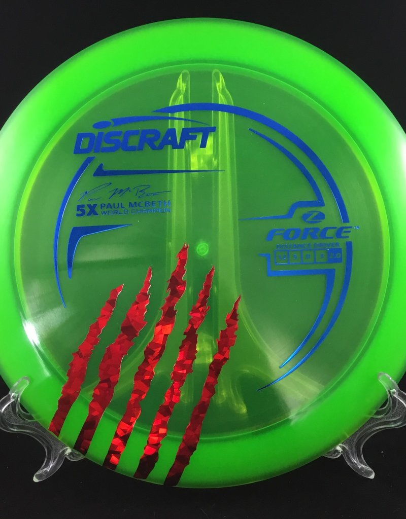 Discraft Paul McBeth Z Force Green/ red accent 170g 12/5/0/3