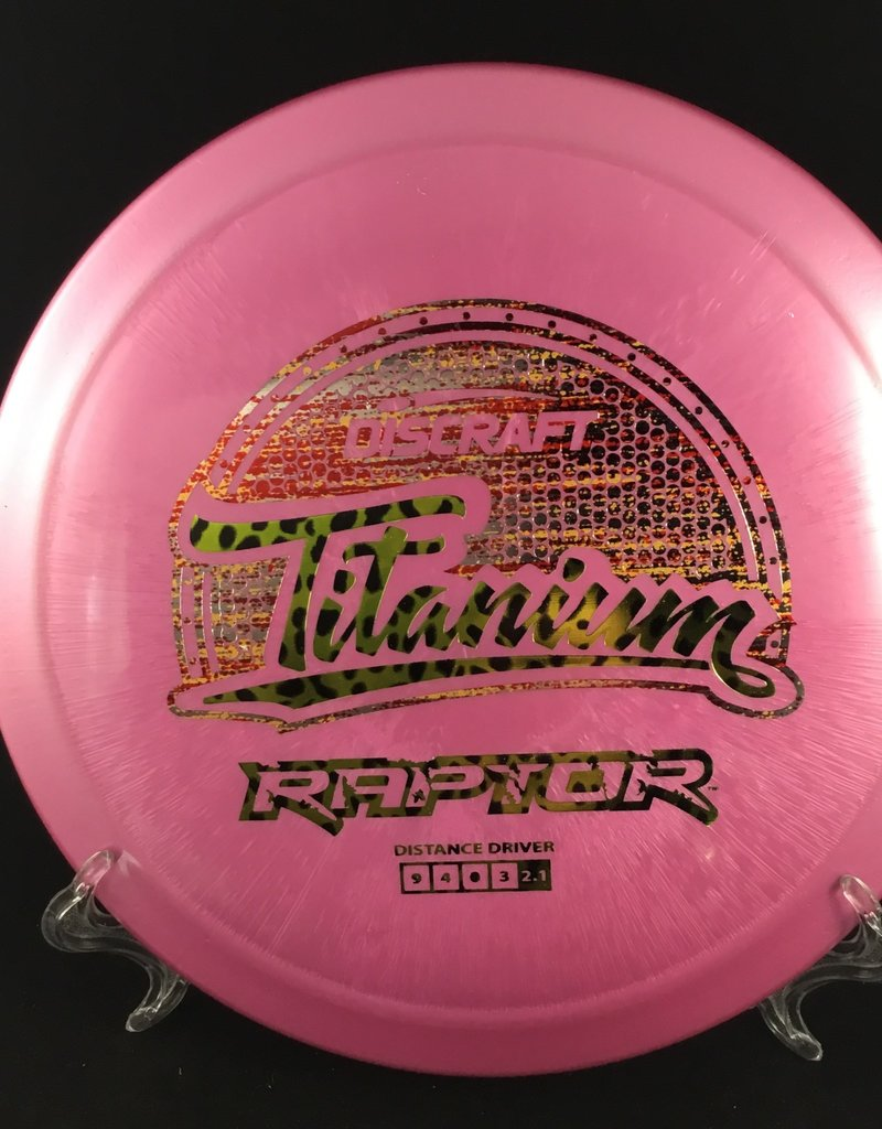 Discraft Raptor Titanium Pink 171g 9/4/0/3