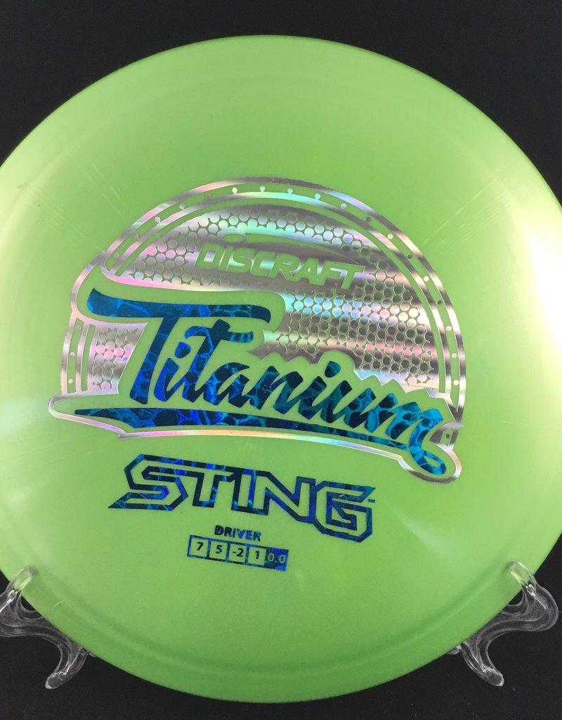 Discraft Sting Titanium Lime Green 168g 7/5/-2/1