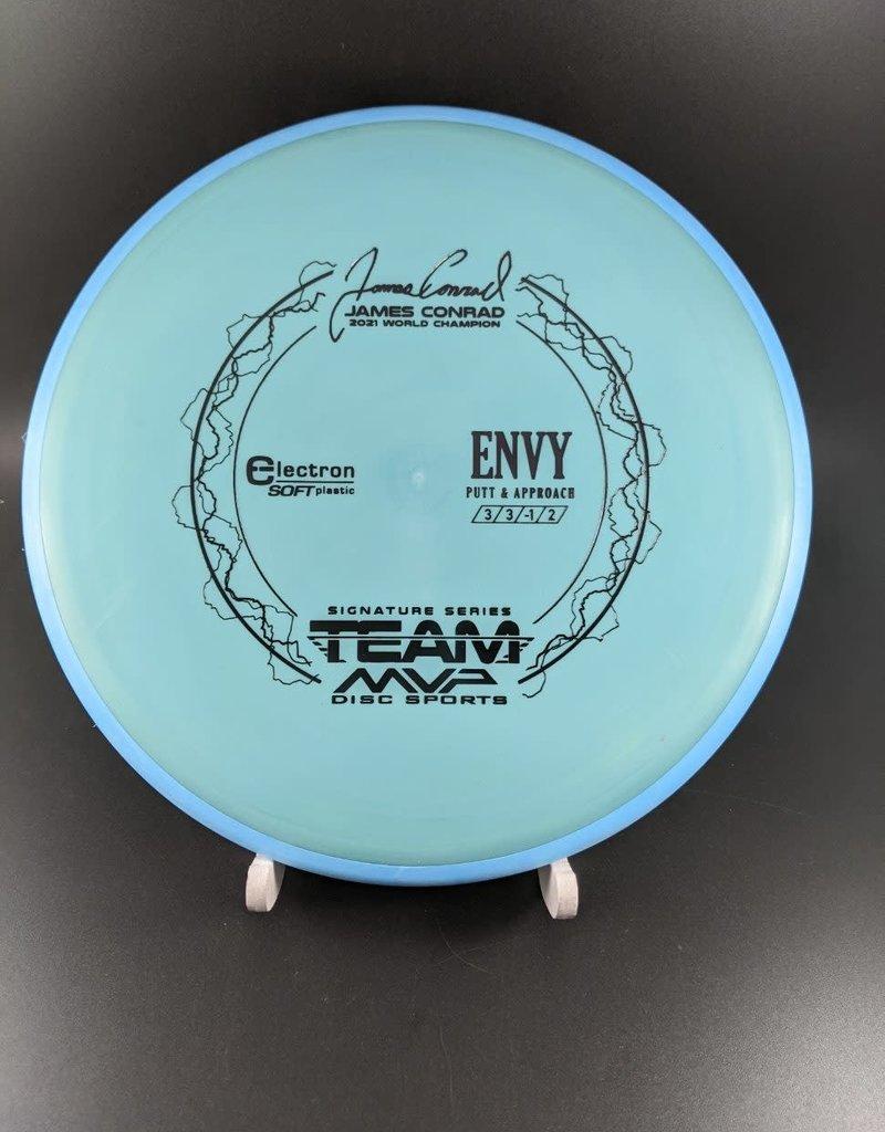 MVP Disc Sports MVP Electron Soft Envy - Team MVP James Conrad ElectronSoftEnvy/Sage/Black/169G