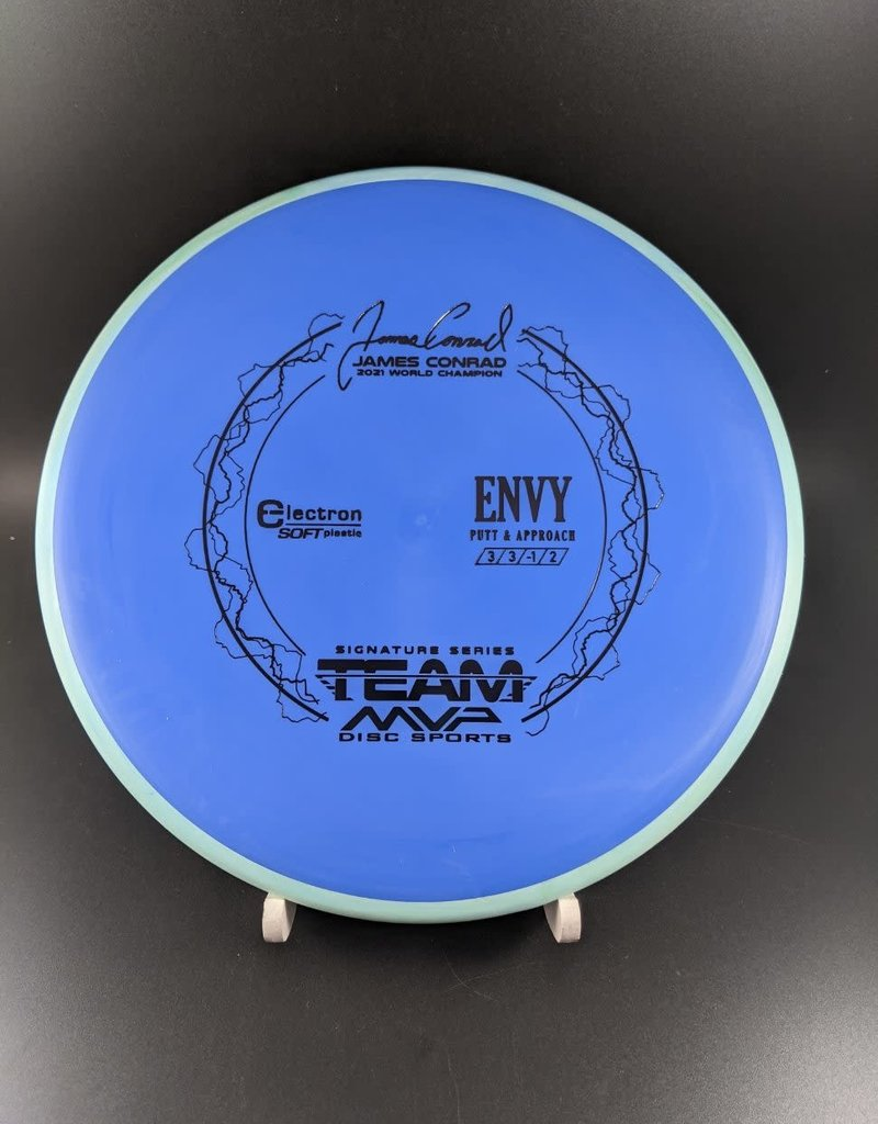 MVP Disc Sports MVP Electron Soft Envy - Team MVP James Conrad ElectronSoftEnvy/Blue/Black/167G