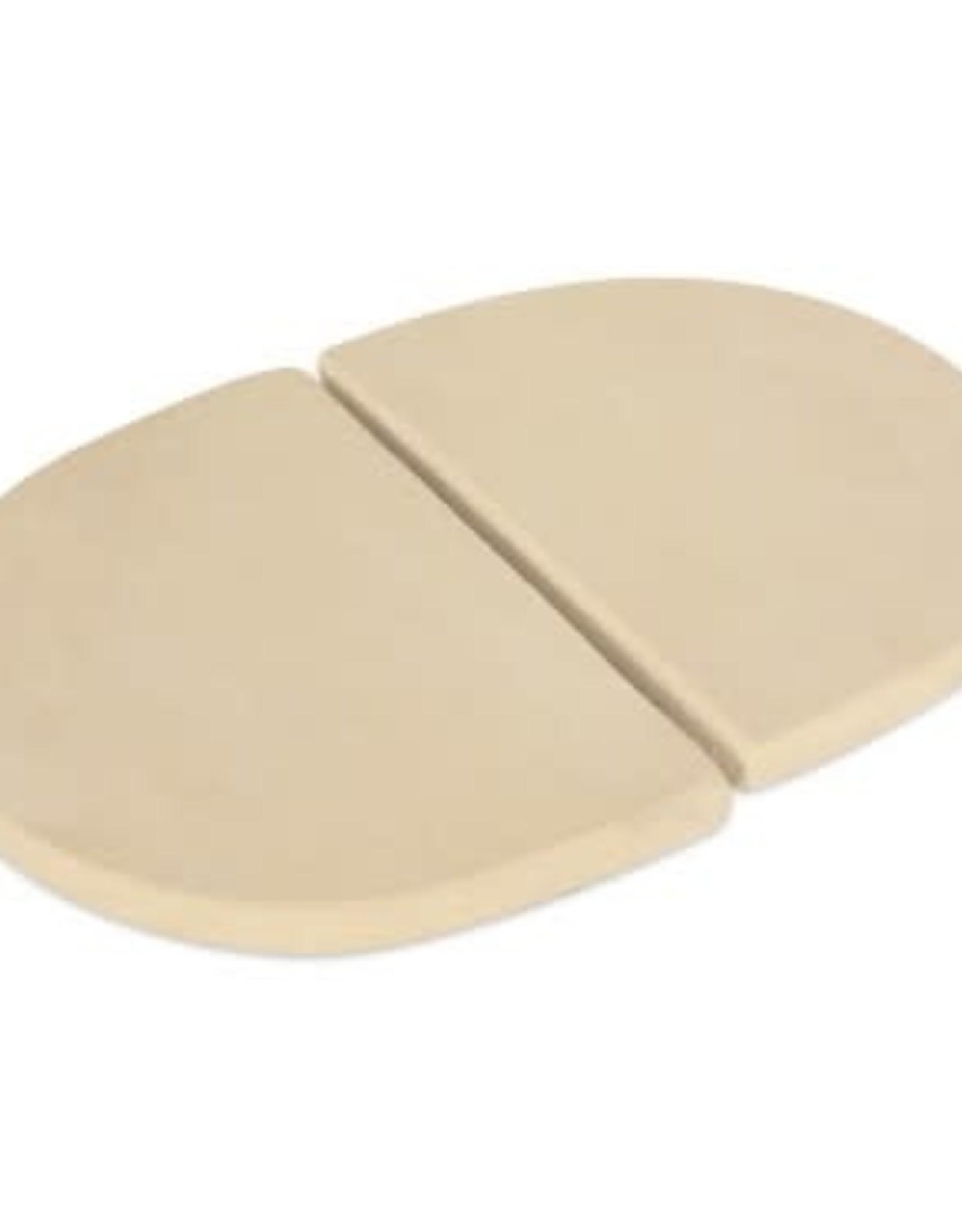 Primo Ceramic Grills Primo Ceramic Heat Deflector Plates for Oval JR 200, Set of 2 #325