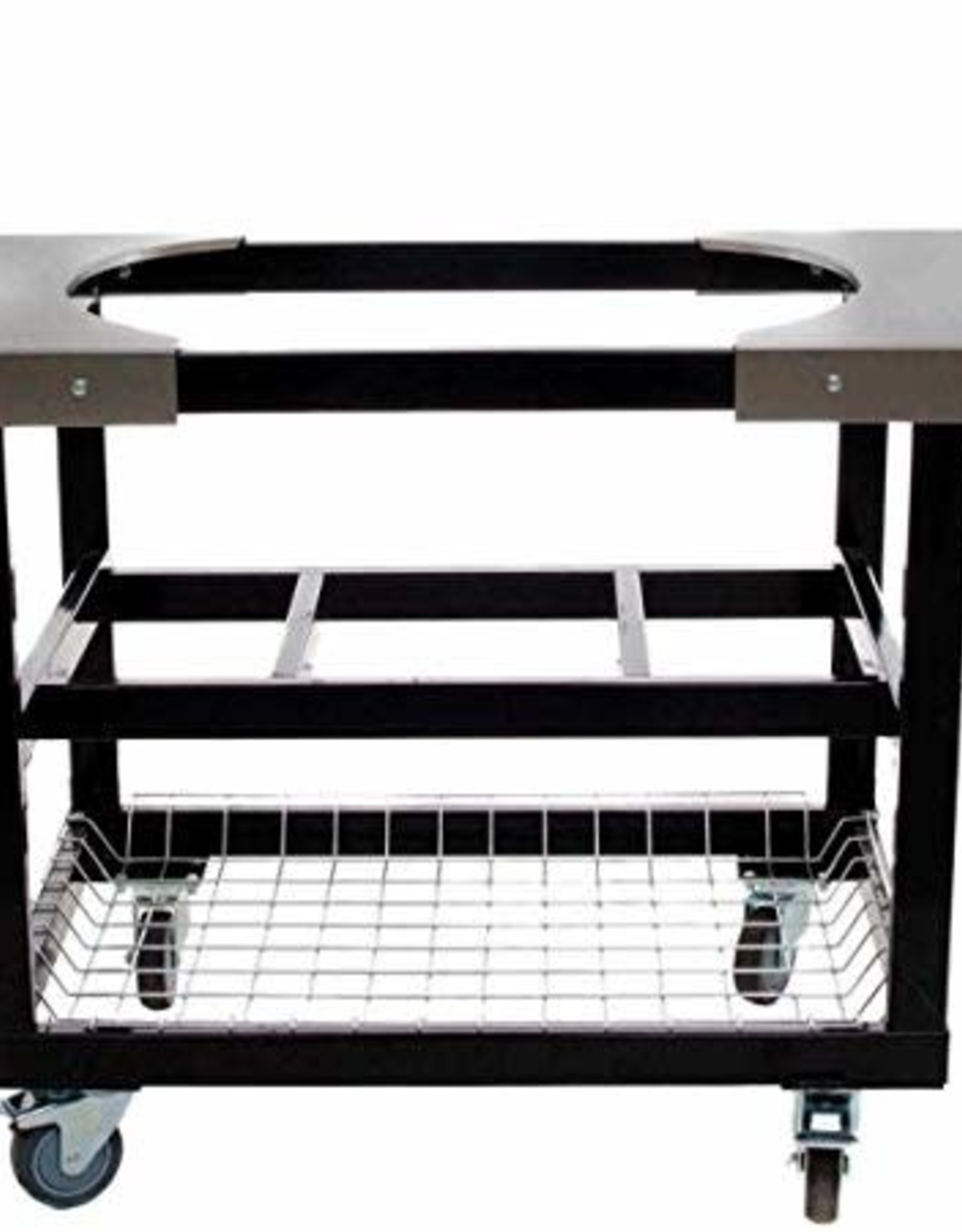 Primo Ceramic Grills Primo Steel Cart With Stainless Steel Side Tables For Oval XL / Oval Large #370