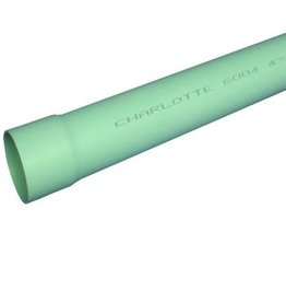 Charlotte Pipe & Foundry PVC Sewer & Drain Pipe 6 in. x 10 ft. SDR-35 Bell End
