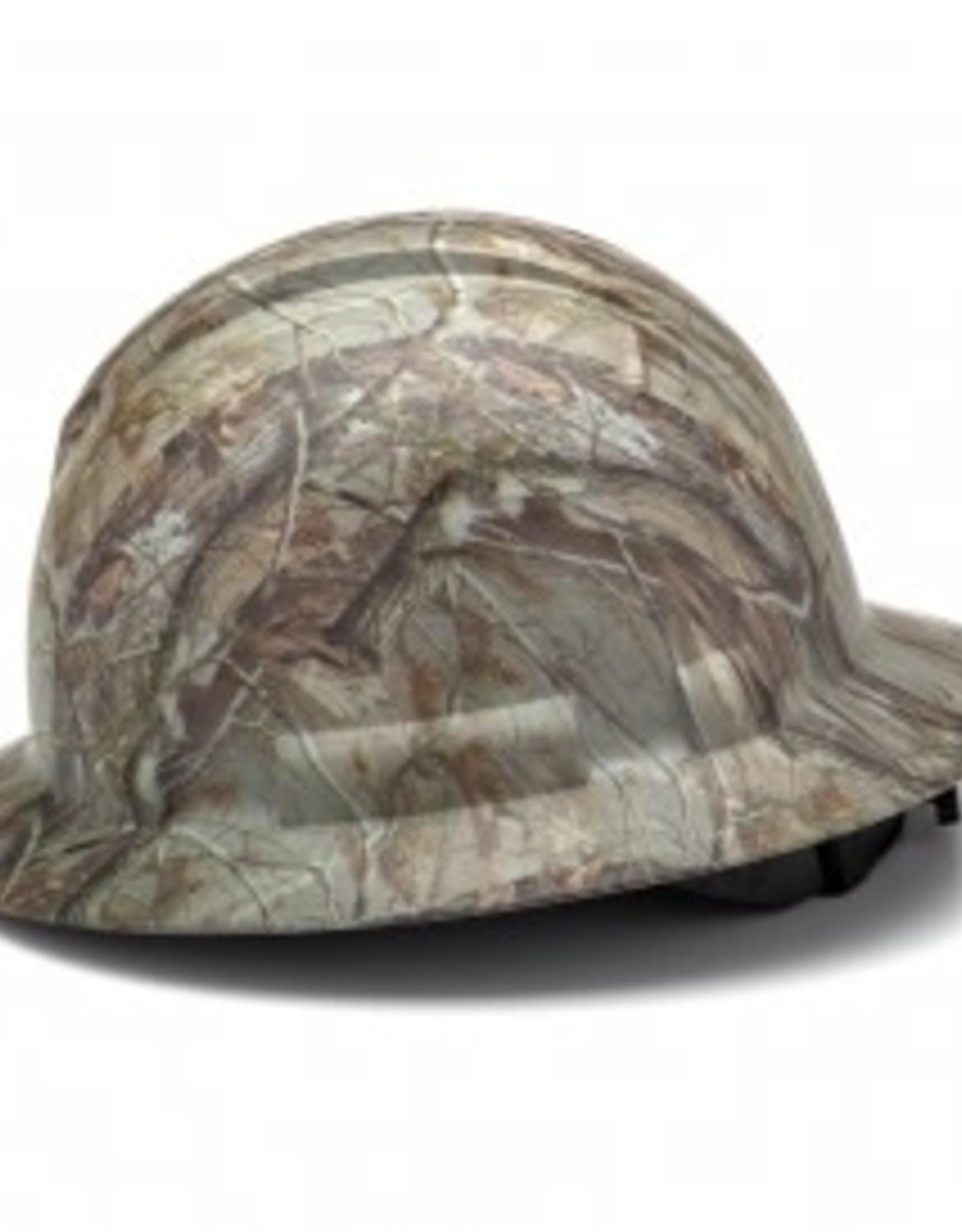 Pyramex Ridgeline Full Brim Hard Hat - 4 Point Ratchet Matte Camo Graphite Pattern