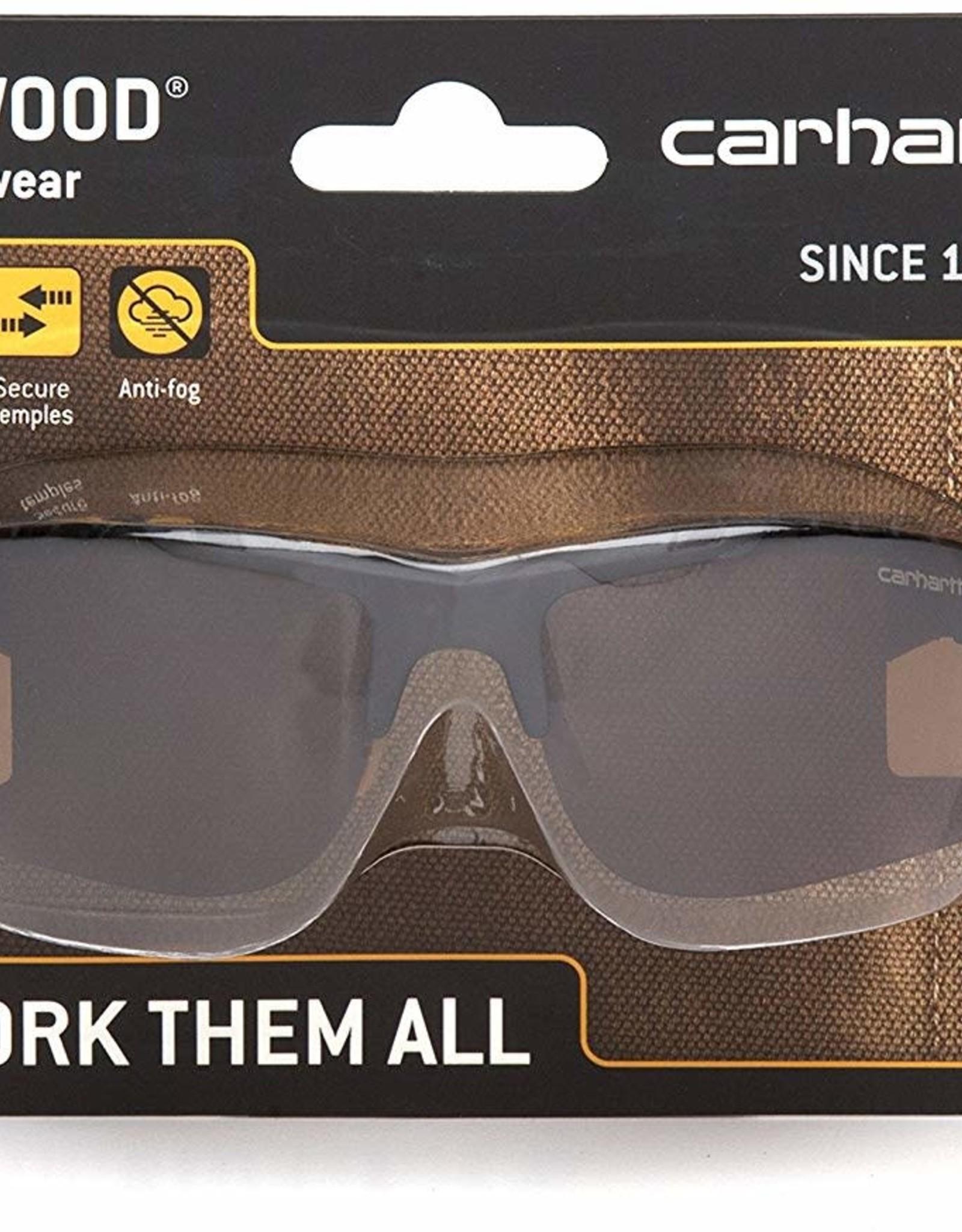 Carhartt Carhartt Rockwood Anti-Fog Safety Glasses Gray Lens Black Frame 1 pc.