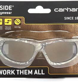 Carhartt Carhartt Ironside Safety Glasses, Retail Clamshell Packaging, Realtree Xtra Frame, Antique Mirror Anti-Fog Lens  t Ironside Safety Glasses, Retail Clamshell Packaging Black/Tan Frame, Antique Mirror Anti-Fog Lens