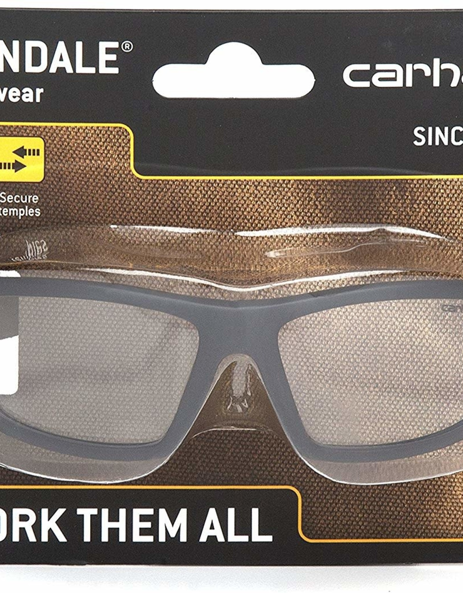 Carhartt Carhartt CHB210DCC Carbondale SAFETY Glasses, Black/Tan Frame, Clear Lens