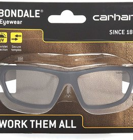 Carhartt Carhartt CHB210DCC Carbondale SAFETY Glasses, Black/Tan Frame, Clear Lens