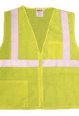Cordova Men's Cordova Safety Vest Adult Class 2 Lime L