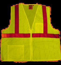 Cordova Men's Cordova Safety Vest Adult Class 2 Lime L