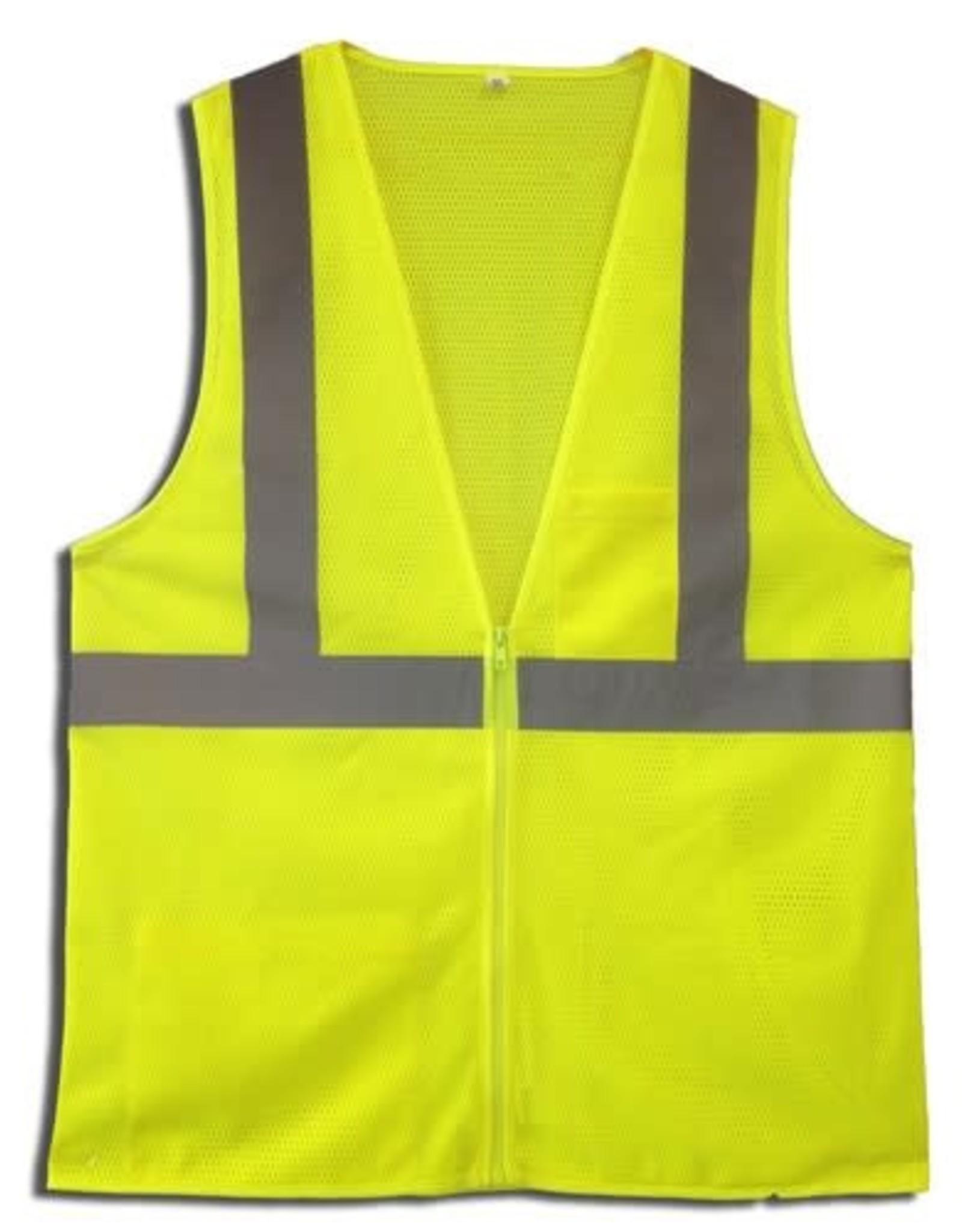 Cordova Men's Cordova Safety Vest Adult Class 2 Lime XL