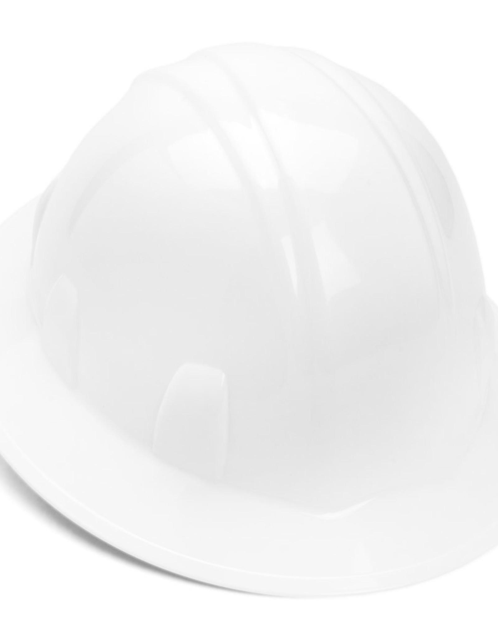 Pyramex Pyramex White Full Brim Hard Hat 4pt rachet