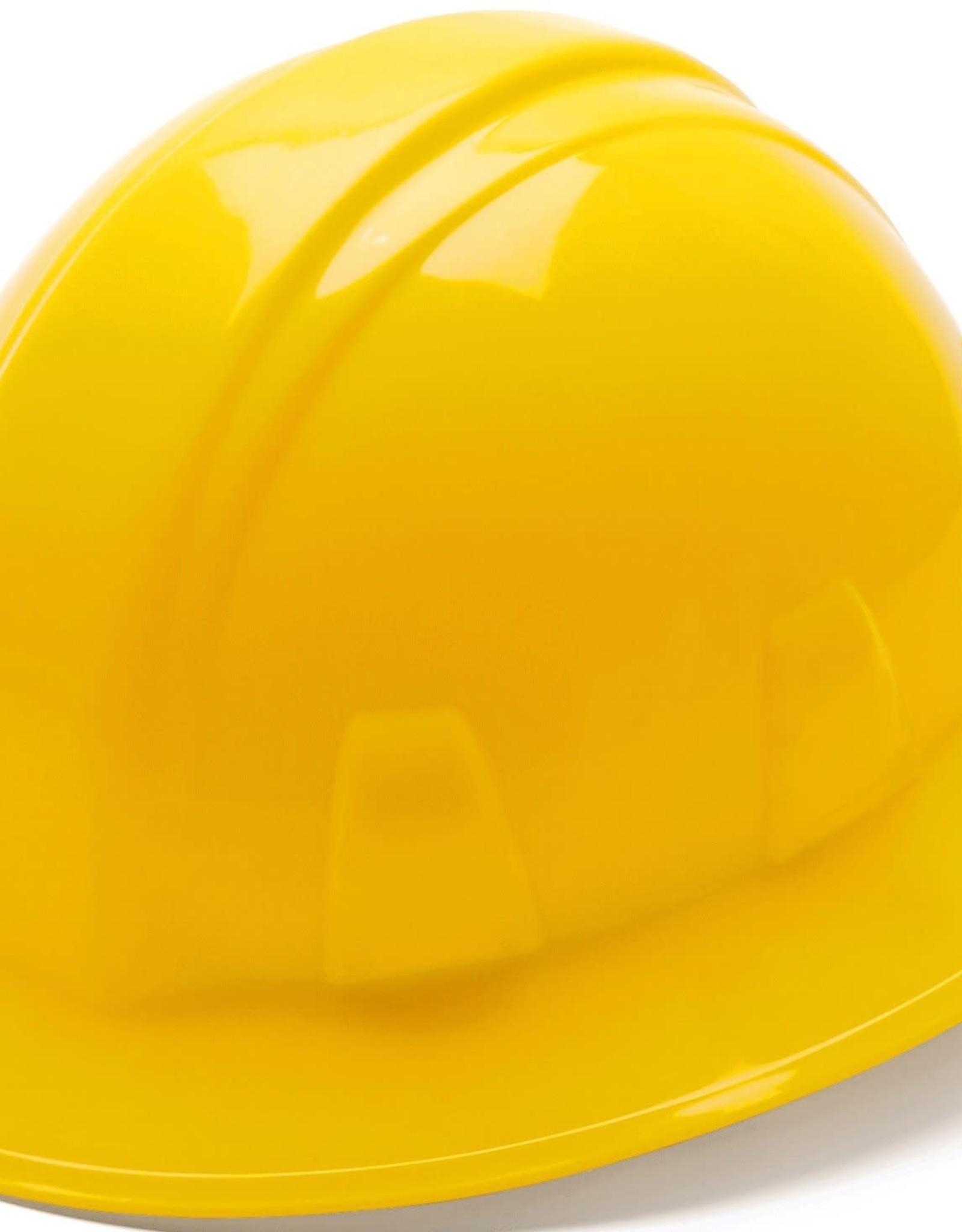 Pyramex Pyramex Yellow Full Brim Hard Hat 4pt rachet