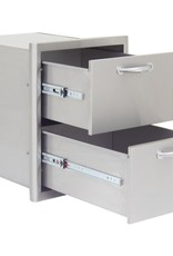 Blaze Outdoor Products Blaze 16-Inch Stainless Steel Double Access Drawer - BLZ-DRW2-R