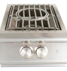 Blaze Outdoor Products Blaze LTE Built-In Natural Gas High Performance Power Burner W/ Wok Ring & Stainless Steel Lid BLZ-PBLTE-NG