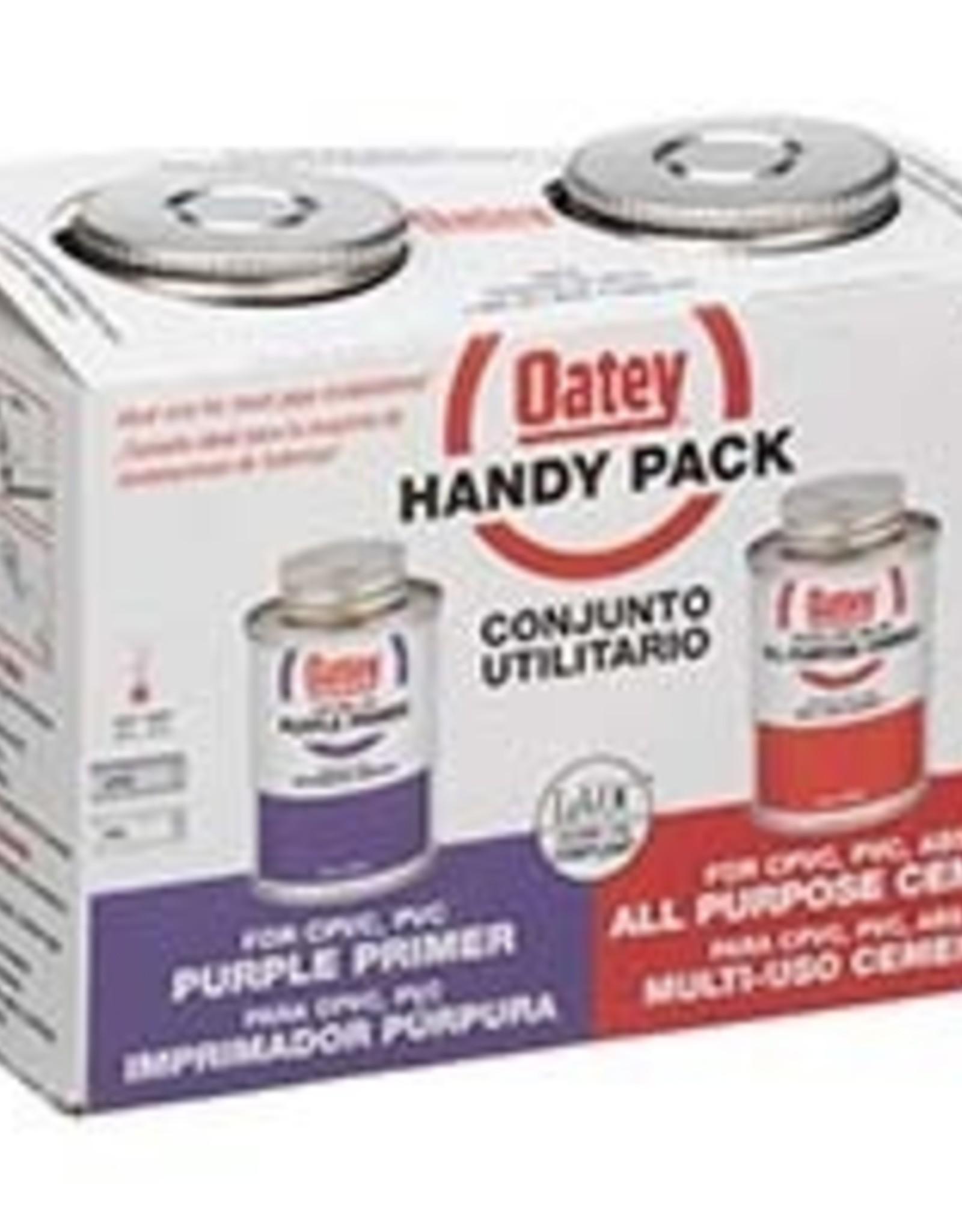 Oatey Oatey - Handy Pack (2) 4 oz PVC All Purpose Cement / Purple Primer