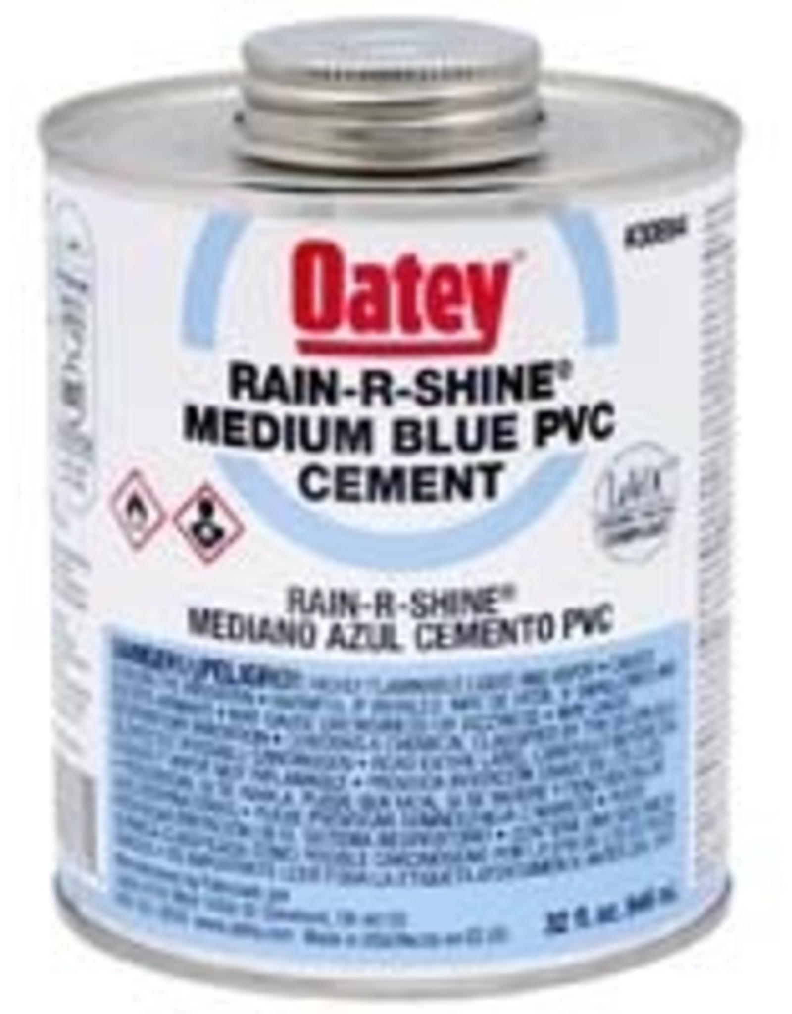 Oatey Oatey - Rain R Shine Medium Blue PVC Cement 32oz