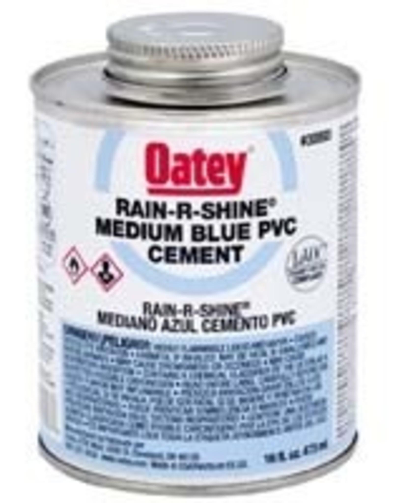 Oatey Oatey - Rain R Shine Medium Blue PVC Cement 16oz
