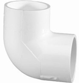 "Lasco Fittings PVC 1"" 90 Degree Elbow Slip x Slip SCH 40"